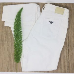 Armani Jeans Stunning Soft Off-White Jeans Size 29